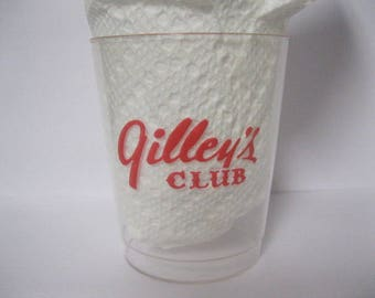Gilley's Western Cowboy Club Set of Six Original Drinking Cups Glasses Mickey Gilley Urban Cowboy Era John Travolta ONE of a KIND Rare FIND
