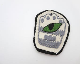 Green Cat Eye Sew On Patch All Seeing Eye Embroidered Evil Eye Patch