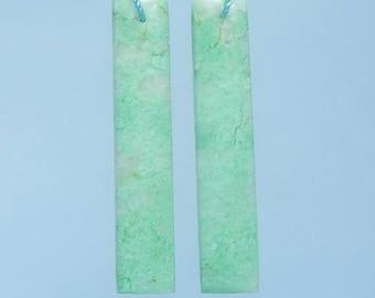 Emerald fashion woman Gemstone earring beads,44x9x5mm,7.4g