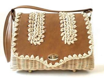 Straw Handbag, Straw Summer Purse, Raffia Purse, Raffia Bag, Woven Handbag, Woven Purse