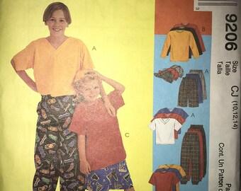 McCalls 9206 Boys Shirt and Pants UNCUT Sizes 10-14