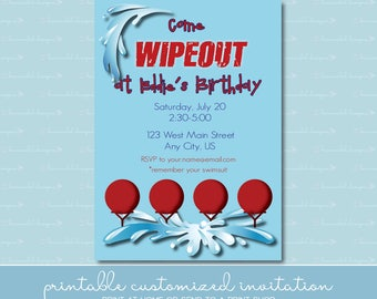 Wipeout Birthday Invitation without Photo