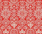 Scandi 4 Red Lace TP-1784-R by Makower UK for Andover