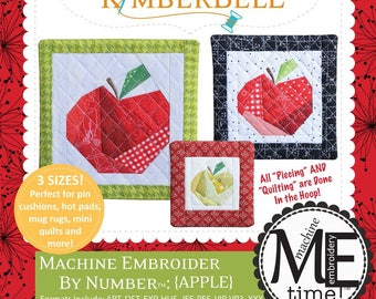 Embroider by Number Apple KD628 Machine Embroidery CD designed by KimberBell