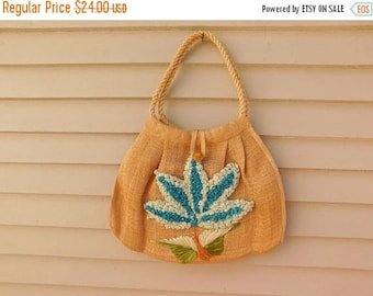 Birthday Sale Vintage Woven Straw Bag Made in the Philippines