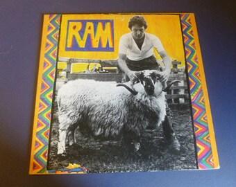 Paul And Linda McCartney - RAM Vinyl Record LP SMAS-3375 Apple Records 1971