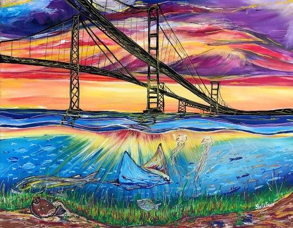 Tidal Sunset 16x20 Giclee Canvas Print