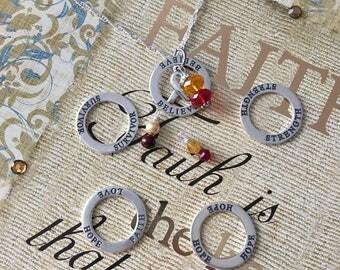 Strength- Survivor - Hope - Believe - Hepiatitis C Awareness Inspirational Necklace - Sterling Silver
