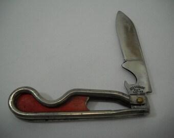 Vintage Geo Schrade Pocket Knife Bottle Opener Open Frame Pat 1-27-42 FREE SHIPPING