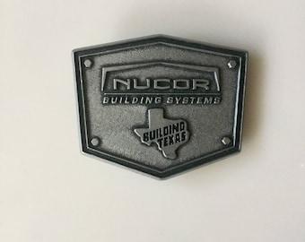 TEXAS Belt Buckle // Texas Builders // Building Texas // Nucor