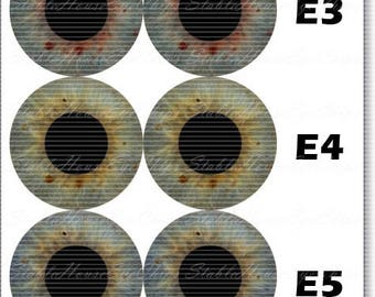 StableHouse Realistic Glass EyeChips for Neo Blythe Doll
