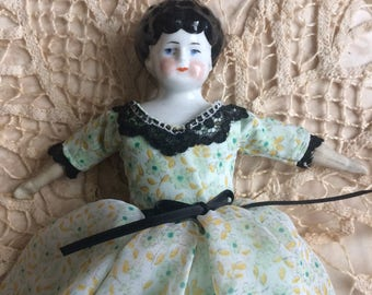 This Vintage German China Doll Was Well Kept Just Look At Her Dress