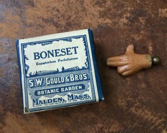 An Antique Package Of Boneset For Your Growing Apothecary Collection