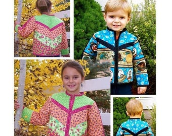 ON SALE Half Pints, Pattern, Jackets for Boys and Girls, MorninGlory Designs