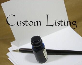 Custom Order Listing for Linda B