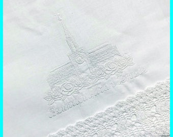 Bountiful Utah Temple - Lace Edge