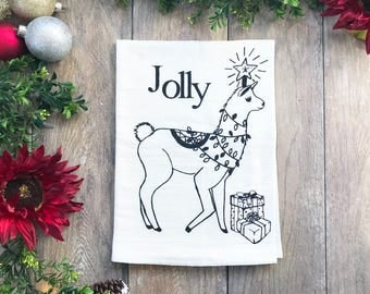 The Jolly Llama Cotton Kitchen Towel