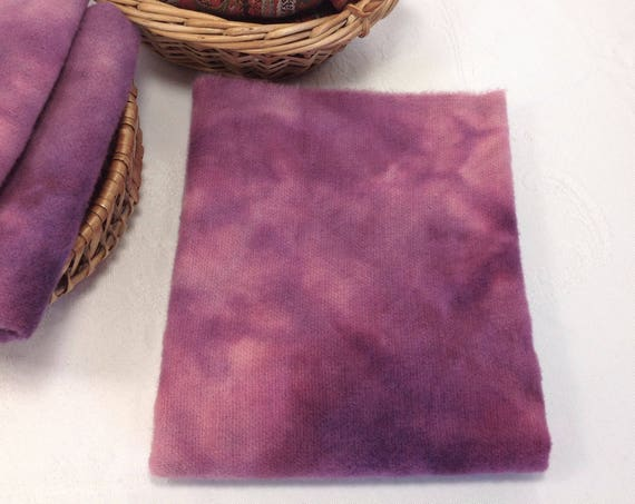 1/4 yard, Hand Dyed Wool Fabric, Purple Passion, W424, Rug Hooking Wool, Applique Wool