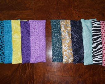 Lot of 6 Golden Flaxseed Cotton Eye Pillows