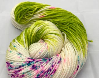 Oscar Worsted , Hand Dyed Yarn, Superwash merino, worsted weight, multicolored yarn, Crazy Cousin