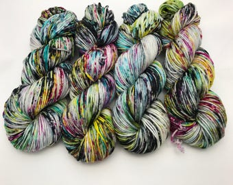 Oscar Worsted , Hand Dyed Yarn, Superwash merino, worsted weight, multicolored yarn, Pause To Ponder Remix