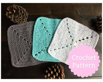 Windmill Dish Cloth Pattern | Crochet Dish Cloth Pattern | Wash Cloth Pattern