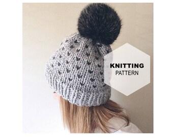 Prairie Sky Toque | Fair Isle | Knit Hat | Knit Toque (KNIT PATTERN)