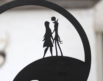 Jack and Sally Halloween Cake Topper