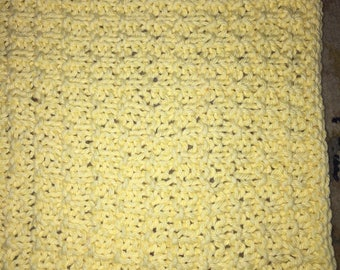 Yellow Cotton Dishcloth