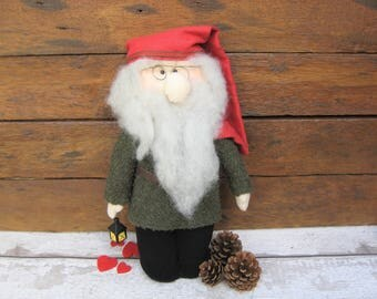 Lars - Norwegian Danish Swedish Finnish Nisse - Tontuu - Tomte - Tomtar - Scandinavian - Nordic Doll - Figure - Birthday- Gift Present