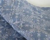 Vintage Cohama fabric, Bohemian style, denim blue, cotton, crafting, throw pillows, linen bedding