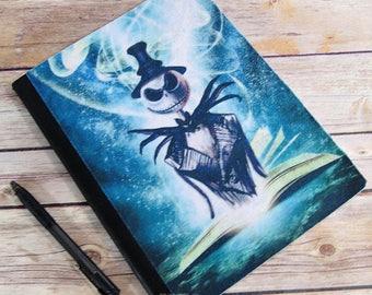 Jack Skellington Reading -  Blank Journal Note Book MTCoffinz