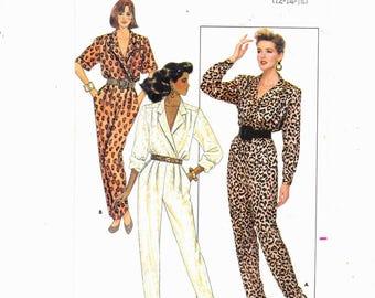 Butterick 5729 Sizes 12-14-16 Misses Jumpsuit Misses/Petite Chic, Retro Vintage  UNCUT