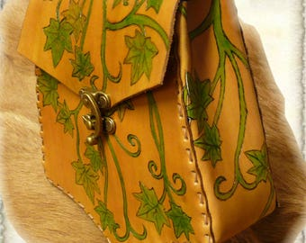 """Leather belt pouch """"Ivy"""""""