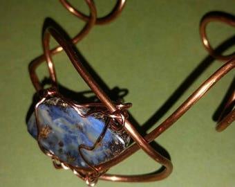 Australian opal cuff bracelet