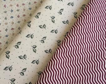 Gooseberry Lane Kansas Troubles Primitive Moda Cotton Quilt Fabric FQ Fat Quarter Bundle of 3