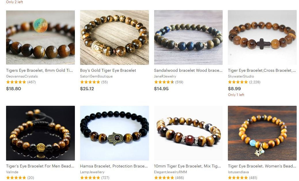 Cheap Simplistic Tigers Eye Bracelets