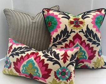 Decorative Pillow Cover in Waverly Santa Maria Desert Flower