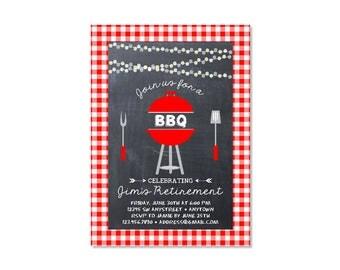 Retirement BBQ Invitation