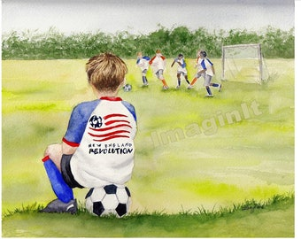 Boston Revollution Print - 11x14  - Soccer