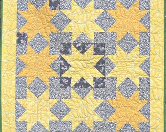 Second Star to the Right Handmade Quilt, Wall Hanging, Baby Quilt