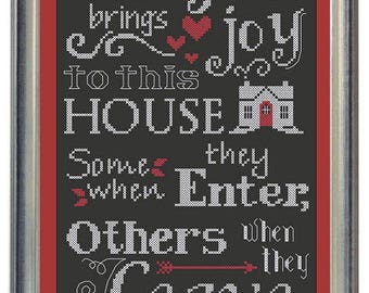 INSTANT DOWNLOAD Waxing Moon Designs Everyone Brings Joy PDF counted cross stitch patterns holidays Christmas