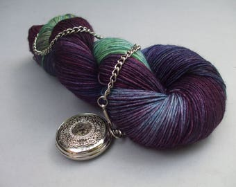 British Superwash BFL 4 ply Sock Wool. Rock Pool