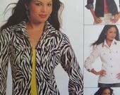 JEAN JACKET Pattern • McCalls 5860 • Miss 8-14 • Princess Seam Jacket • Unlined Jacket • Sewing Patterns • Modern Pattern • WhiletheCatNaps