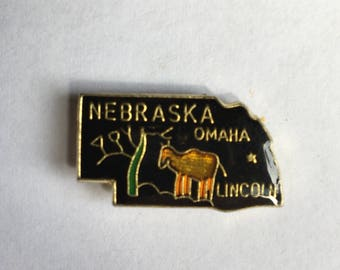 Vintage Nebraska enamel pin