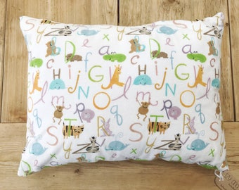 "Accent Pillow Cover - ABCs with Animals - 12"" x 16"" - Baby Gift - New Baby"