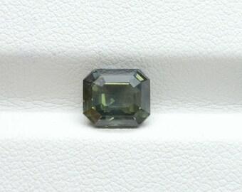 2.57ct Untreated bluish Green sapphire7.67×6.72×4.57