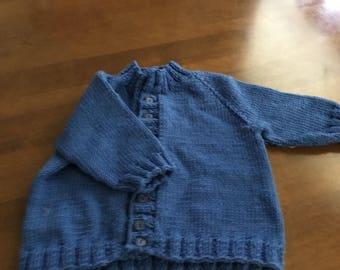 Boys cardigan  hand knit