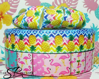 "7/8"" - 1"" Flamingo Grosgrain Ribbon"