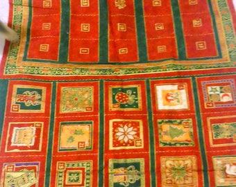 Christmas Advent Calender Fabric Panel 3739 Makower UK